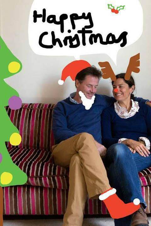 Nick Clegg credited with 'winning Christmas' with doodle Christmas card