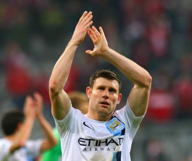 MUNICH, GERMANY - DECEMBER 10:  James Milner of Manchester City applauds the fans at the final whistle during the UEFA Champions League Group D match between FC Bayern Muenchen and Manchester City at the Allianz Arena December 10, 2013 in Munich, Germany.  (Photo by Martin Rose/Bongarts/Getty Images)