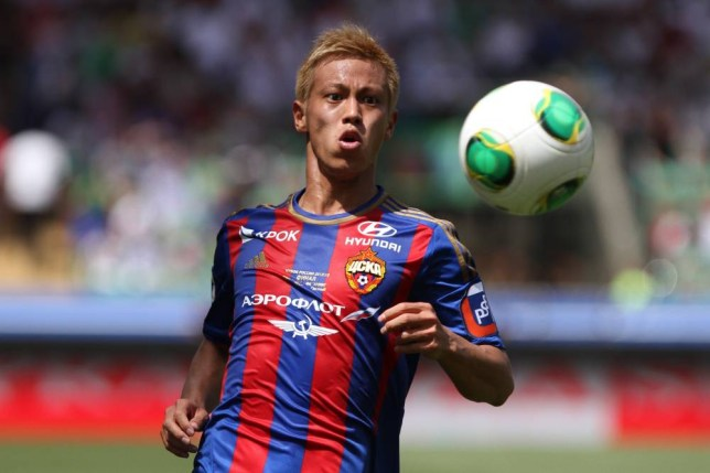 "FILE - In this June 1, 2013 file photo, CSKA Moscow's Keisuke Honda watches the ball during a Cup of Russia final match between CSKA Moscow and Anzhi in the Akhmad Arena stadium in Grozny, Russia. AC Milan says CSKA Moscow and Japan forward Keisuke Honda will join the club in January and will be given the number 10 shirt. It has long been reported that Honda would arrive in the winter transfer window and on Wednesday Milan vice president Adriano Galliani says ""now we can talk. From the 3rd of January 2014 Keisuke Honda will be a Milan player. (AP Photo/Denis Tyrin, File)"