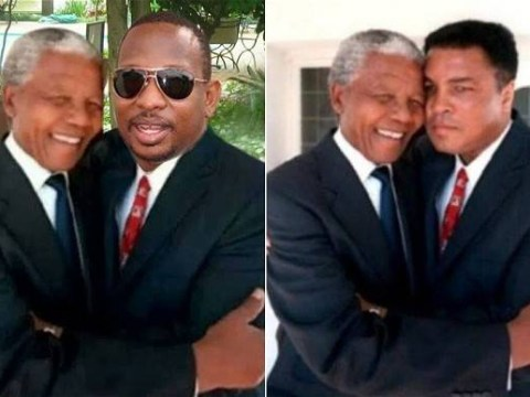 Me and Mandela: Kenyan senator 'Photoshopped picture of himself with South African statesman'