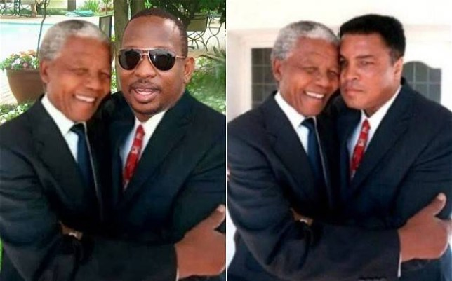 This image of Nelson Mandela and Mike Sonko was posted on the Kanyan senator's Facebook account