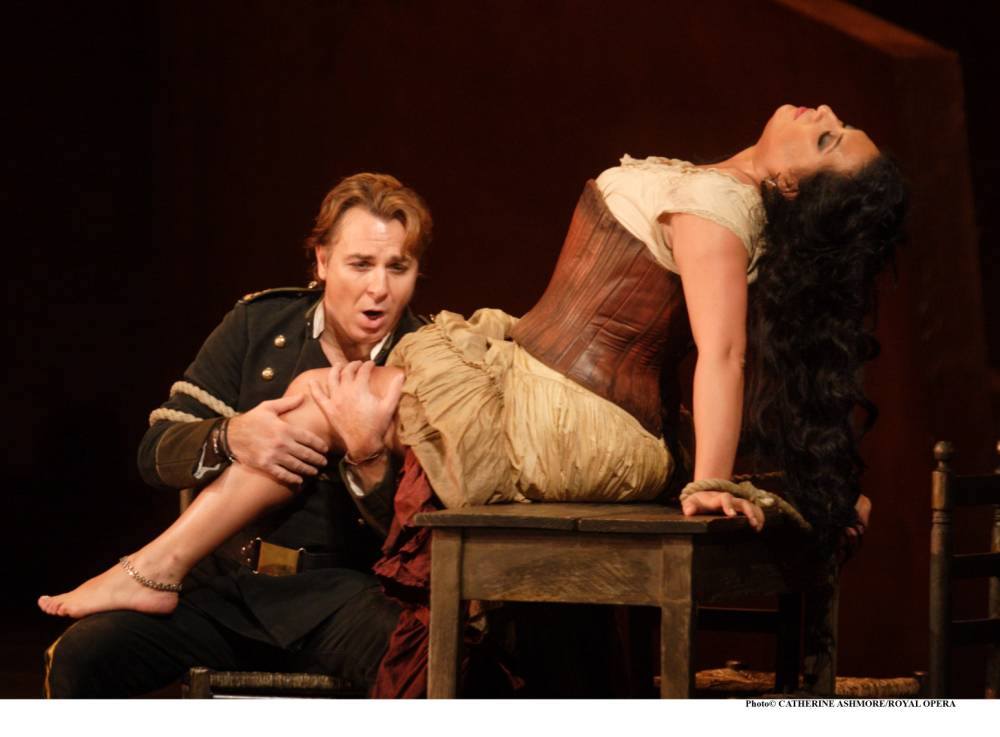 Captivating: Anita Rachvelishvili stars as Carmen with tenor Roberto Alagna (Picture: Supplied)