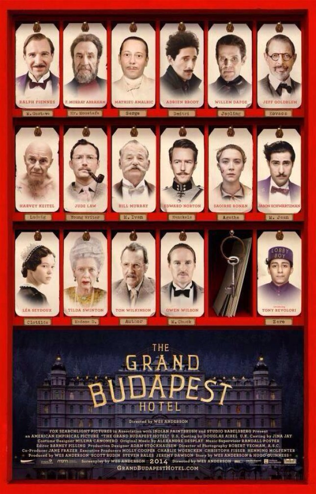 The Grand Budapest Hotel Poster Shows Ralph Fiennes, Bill