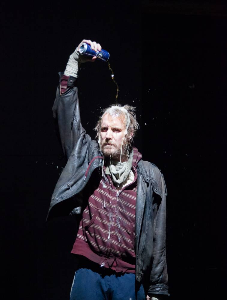 Rhys Ifans is a menacing presence as rough sleeper Danny in Protest Song