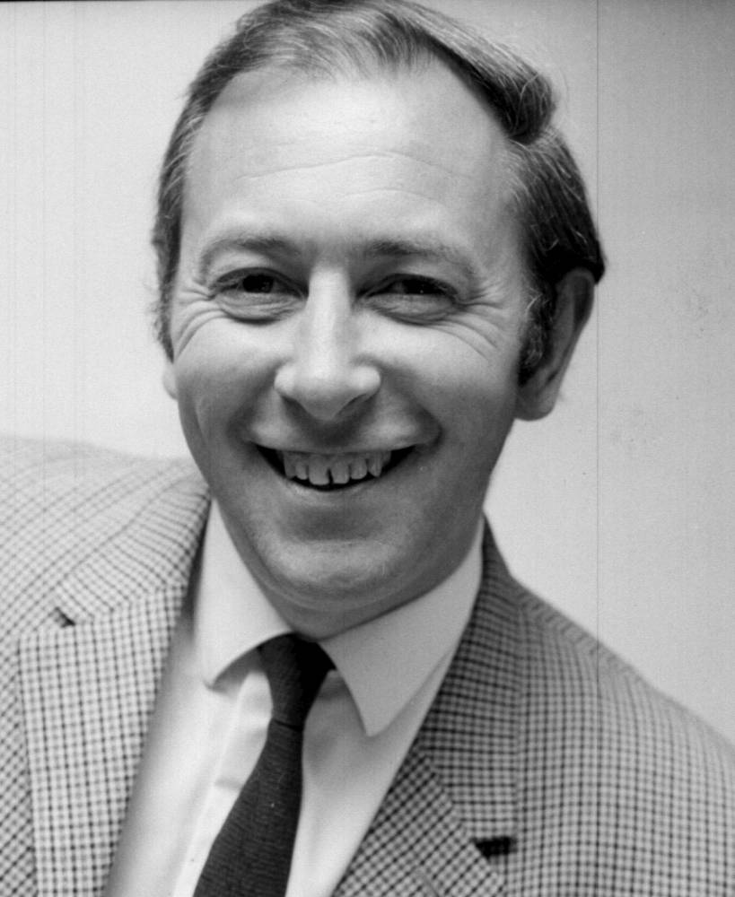 File photo dated 28/09/1968 of David Coleman who has died at the age of 87 the BBC has announced. PRESS ASSOCIATION Photo. Issue date: Saturday December 21, 2013. See PA story DEATH Coleman. Photo credit should read: PA Wire