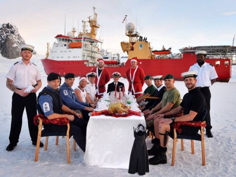 A Royal Navy Christmas: Crew of HMS Protector celebrate in Antarctica