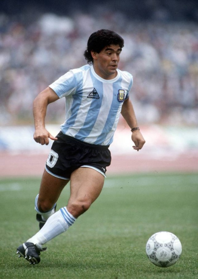 1986 World Cup Finals, Mexico City, Mexico, 2nd June, 1986, Argentina 3 v South Korea 1, Argentina's Diego Maradona.  (Photo by Bob Thomas/Getty Images)