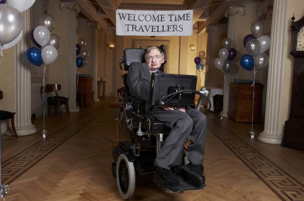 Television programmes: Stephen Hawking's Universe.  Stephen Hawking at Gonville & Caius College, Cambridge.