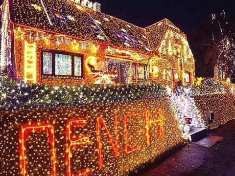 Arsenal ace Emmanuel Frimpong shows off tacky Christmas lights