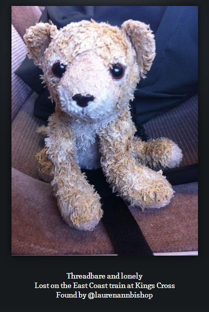 Twitter reunites cute bear with owner after passenger finds it on King's Cross train