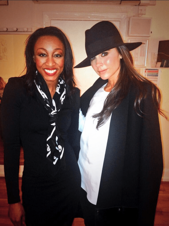 Beverley Knight was thrilled when her mate Victoria Beckham came to see her in action in The Bodyguard (Picture: Beverley Knight Twitter)