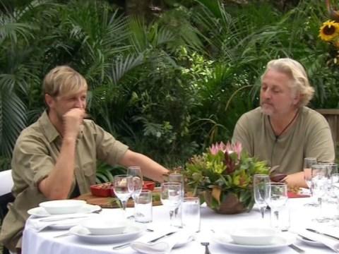 I'm A Celebrity…Get Me Out Of Here! 2013: Kian Egan and David Emanuel enjoy one last (vile) dinner for two