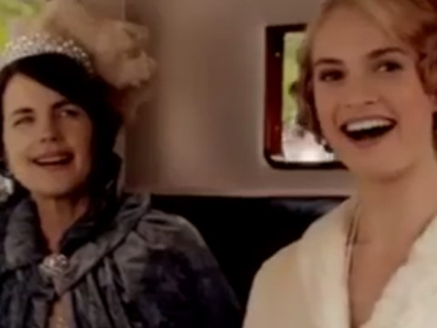 'The gang's all here': Downton Abbey's first festive trailer sees the Crawleys brush with royalty