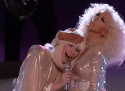 Lady Gaga and Christina Aguilera perform the ultimate duet on The Voice US