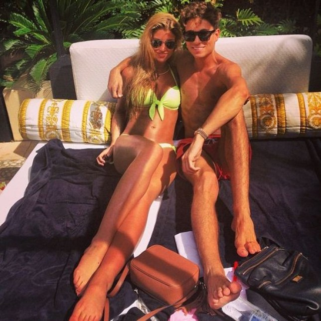 Amy Willerton and Joey Essex couldn't bear to part with their swimsuits (Picture: Joey Essex/Instagram)