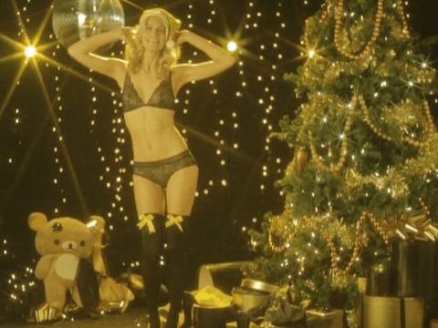 Cara Delevingne's sister Poppy stars in racy Christmas video for LOVE magazine's advent calendar