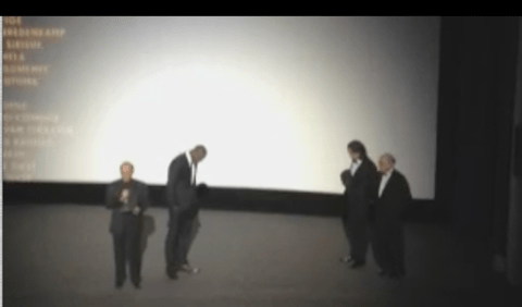 Watch as Mandela: Long Walk to Freedom premiere audience react to news of Madiba's death