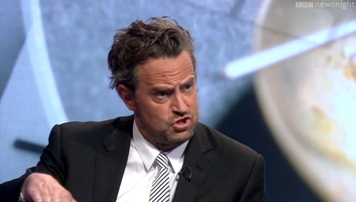 Watch Friends star Matthew Perry debate drug policy on Newsnight