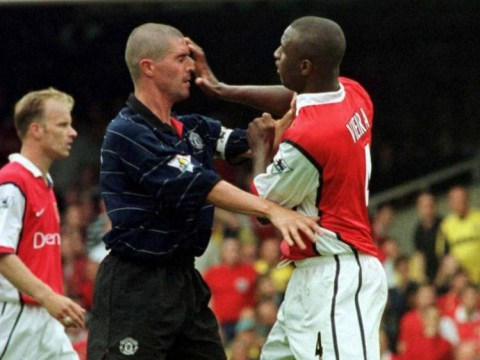 Adebayo Akinfenwa would fight Arsenal legend Patrick Vieira over Manchester United great Roy Keane