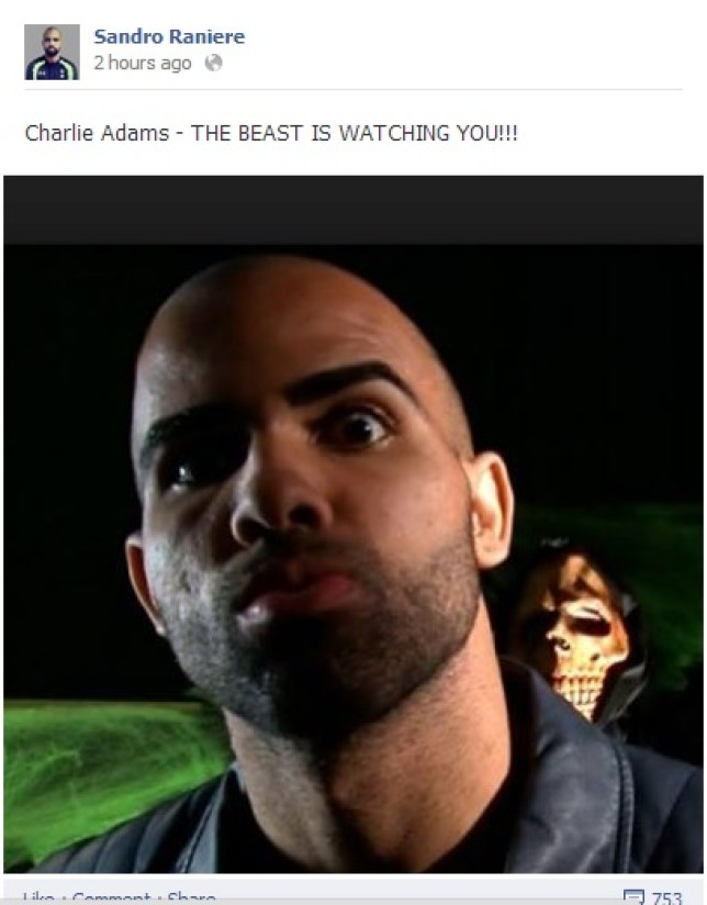 Sandro is keeping an eye on Charlie Adam (Picture: Facebook)