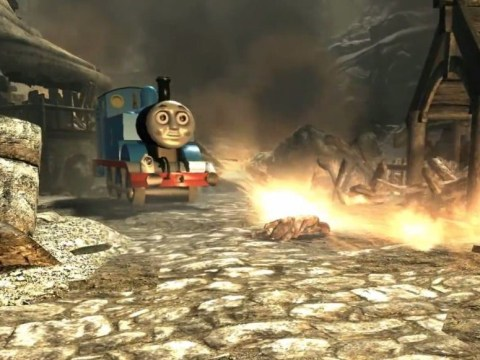 Thomas the Tank Engine wreaks havoc in Skyrim