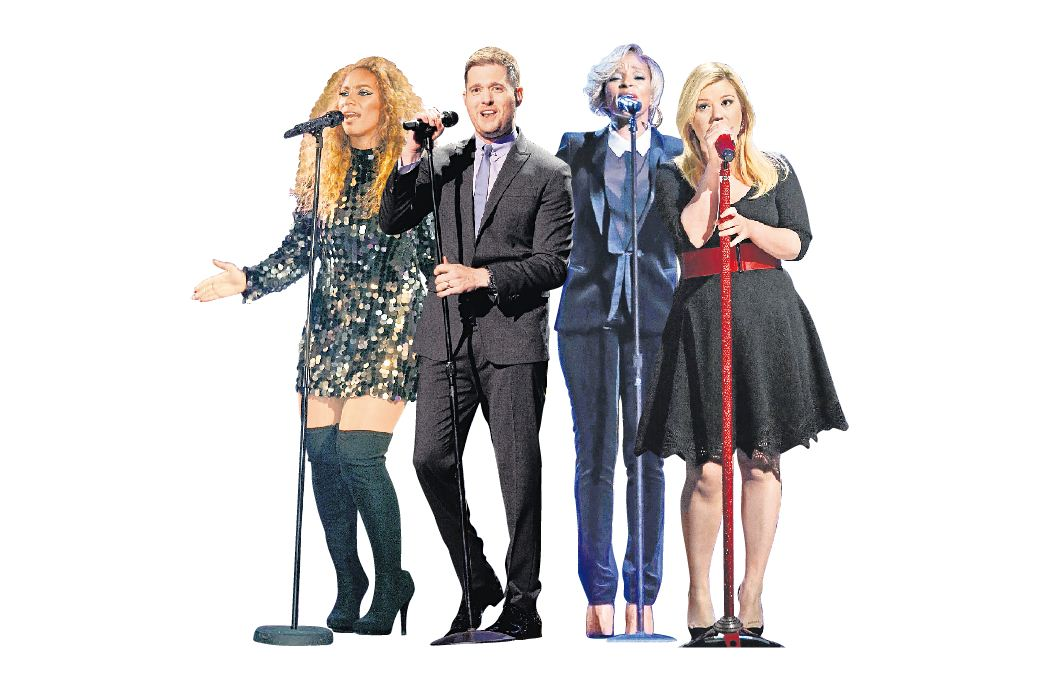 Leona Lewis, Michael Buble, Mary J Blige and Kelly Clarkson have all released Christmas albums (Picture: supplied)