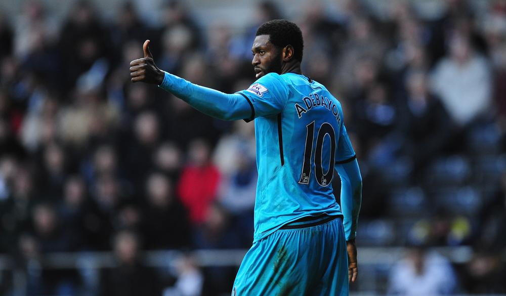 Do Tottenham's top four hopes rest on Emmanuel Adebayor's shoulders?