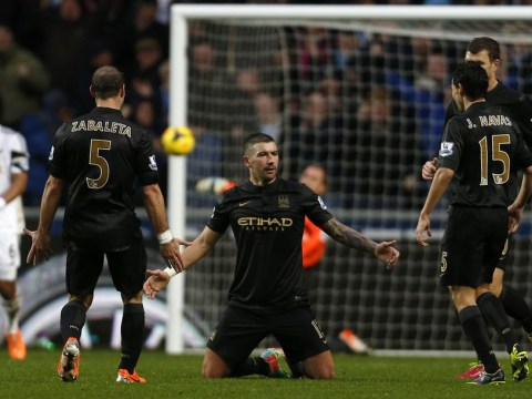 Aleksandar Kolarov scores a screamer against Swansea