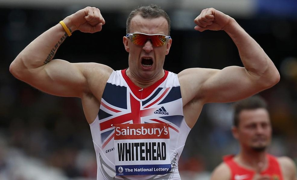 Richard Whitehead triumphs at last year's Sainsbury's London Anniversary Games (Picture: Reuters)