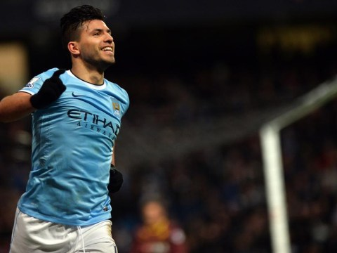 Sergio Aguero will be the difference in a thriller between Tottenham and Manchester City