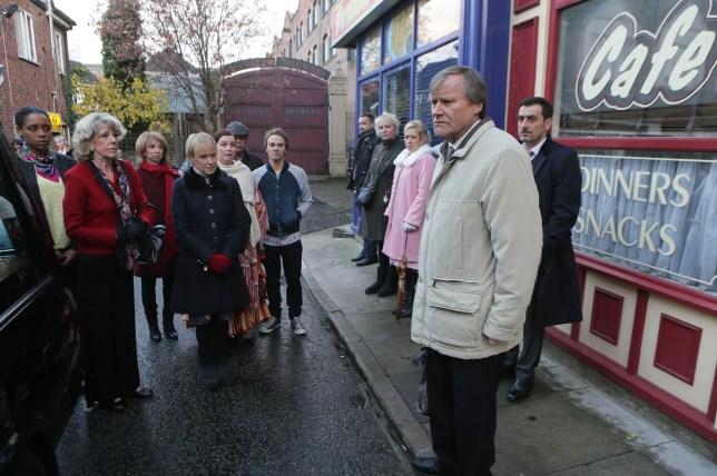 Hayley Cropper's funeral - Coronation Street