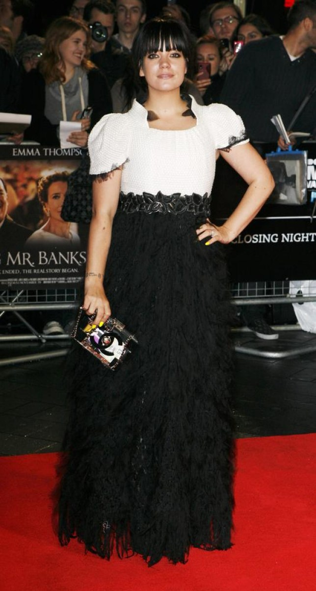 Lily Allen shows off new figure on red carpet (Photo by Jim Ross/Invision/AP) Jim Ross/Invision/AP