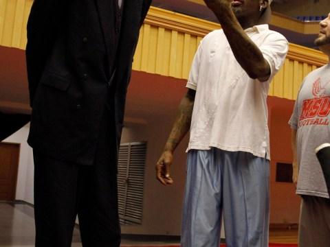 Gallery: Dennis Rodman coaches basketball in North Korea