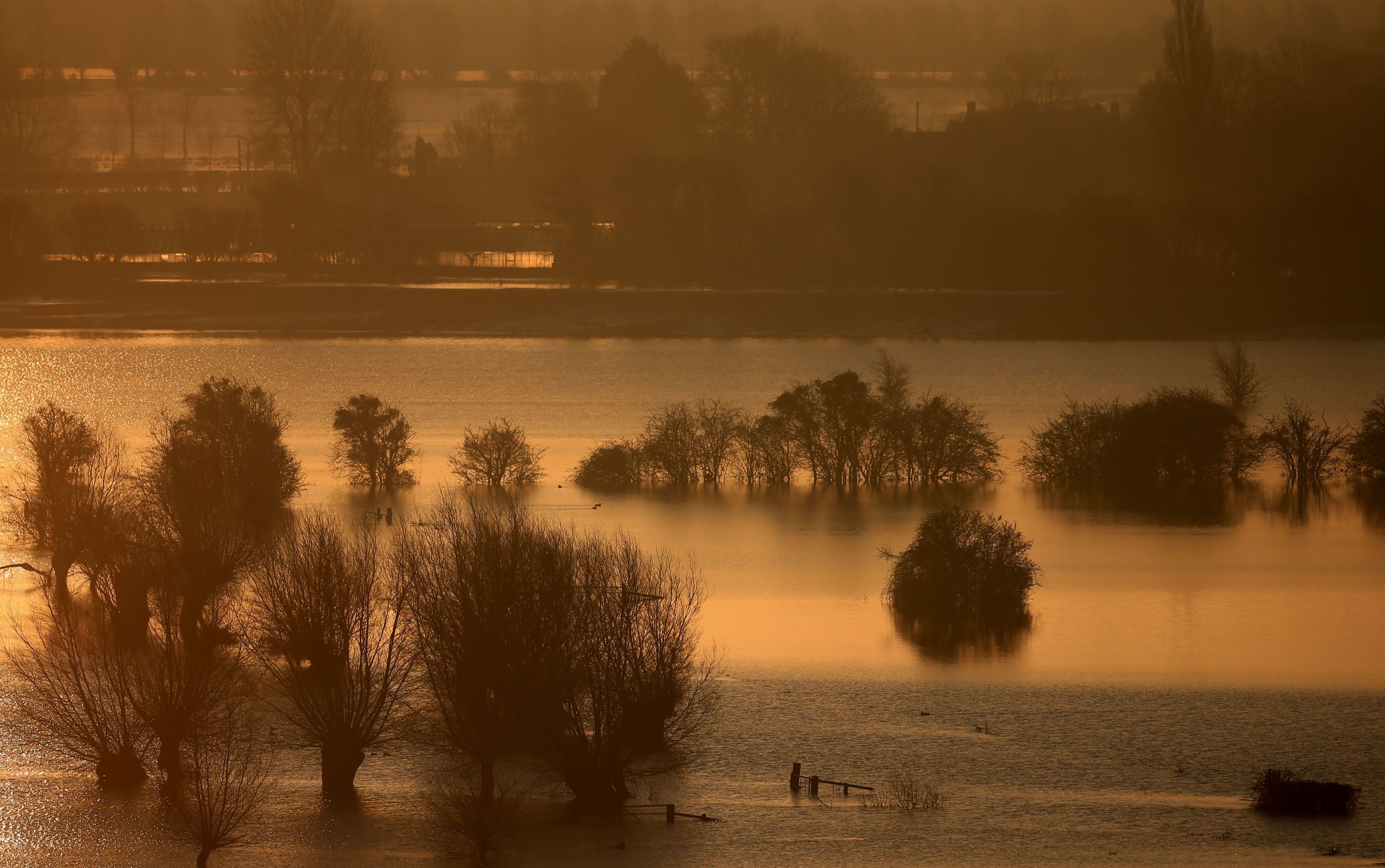 A taste of things to come? Britain has been identified as one of the countries most at risk from flooding