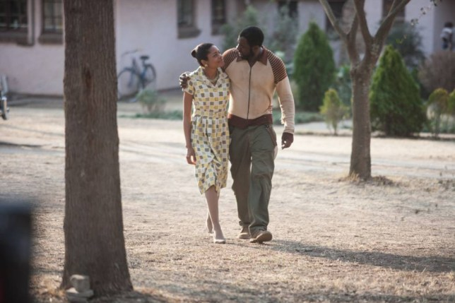 Naomie Harris and Idris Elba in Mandela: Long Walk to Freedom (Picture: supplied)