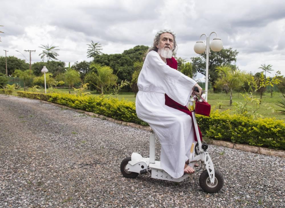 The reincarnation of Jesus? Meet the Brazilian OAP on a scooter who believes he's Christ
