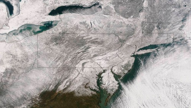 Polar vortex: Deep freeze sweeping US pictured by NASA from space