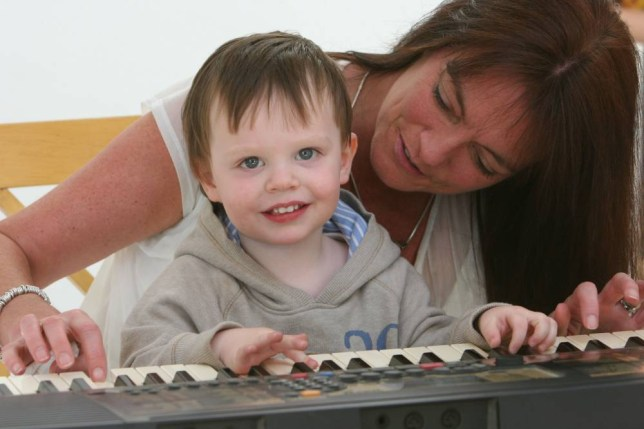 Max Earley with his mother Caroline Earley when Max was 22 months old as the inquest into the toddlers death caused by a brain tumour, that lawyers say was treatable
