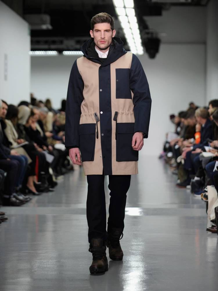 Christopher Raeburn is known for re-using old military fabric in his designs (Picture: Stuart C. Wilson/Getty)