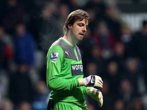 Newcastle goalkeeper Tim Krul is out for the season with knee injury picked up in Holland v Kazakhstan match