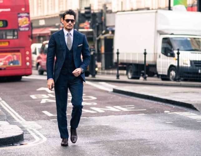 Street cred: Menswear ambassador David Gandy wears Tom Sweeney (Picture: Abdel Abdulai)