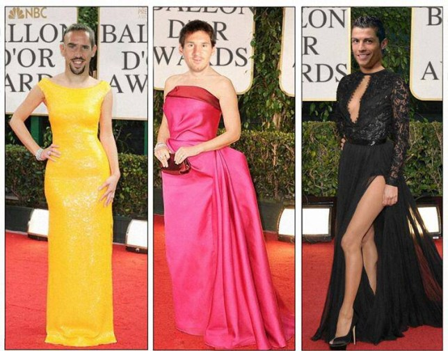 Sadly, these looks didn't appear on the Ballon d'Or red-carpet (Picture: Getty)