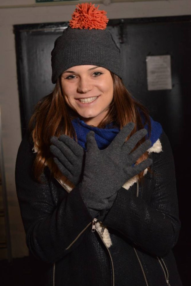 Amy Dawson made a hat and gloves out of a holey jumper (Picture: Daniel Lynch)