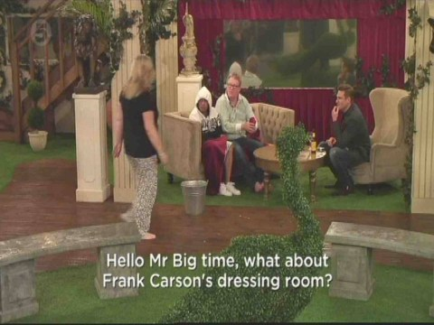 Celebrity Big Brother 2014: Jim and Linda row over 'Frank Carson's dressing-room'
