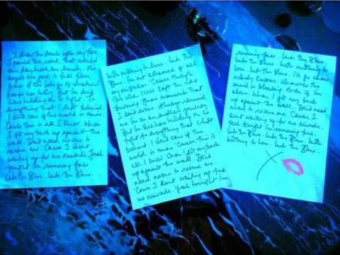 Kylie teases new track Into The Blue with handwritten lyric photo