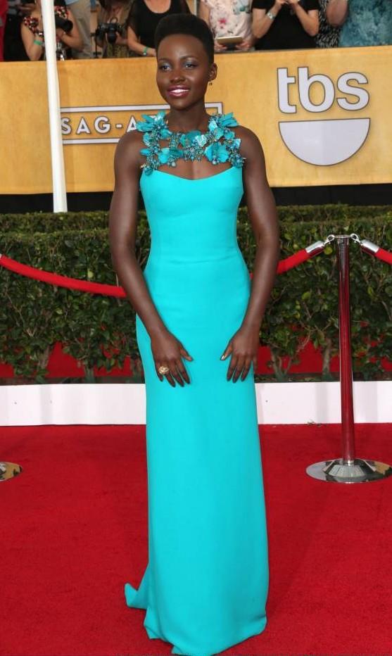 Jennifer Lawrence and Lupita Nyong'o among best dressed at 20th Screen Actors Guild awards