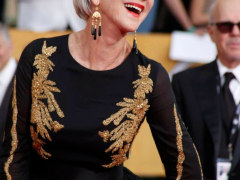 Dame Helen Mirren declares 'I don't feel saggy!' as she scoops best actress at SAG awards
