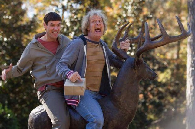 Jim Carrey and Jeff Daniels are back in the Dumb and Dumber sequel (Picture: Universal)