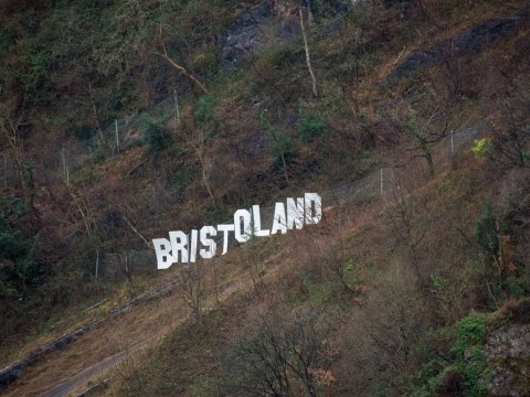 Welcome to Bristoland: Hollywood-style sign appears on outskirts of city