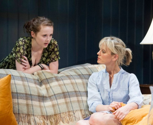 Shannon Tarbet and Emilia Fox in Rapture, Blister, Burn at Hampstead Theatre (Picture: Alistair Muir)